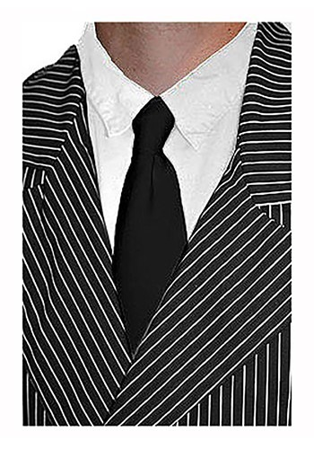 Black Mobster Tie