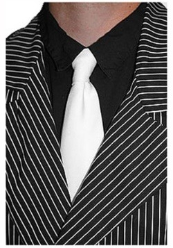White Gangster Costume Tie
