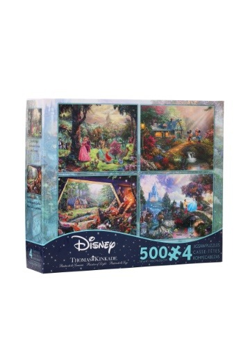 4- Thomas Kinkade Disney Dreams 500 piece  Collection
