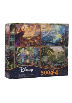 500 piece Thomas Kinkade Disney 4 Puzzle Set