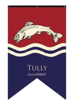 Game of Thrones Tully Sigil 30x50 Banner