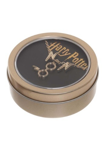 Harry Potter Necklace and Earring Set in Tin