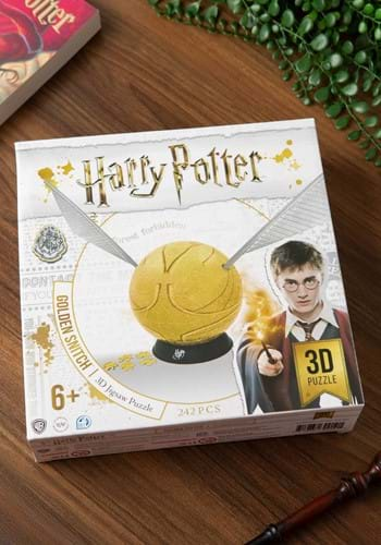 "6"" Harry Potter Golden Snitch Spherical 3D Puzzle"