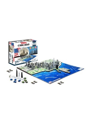 Image of 4D Cityscape Chicago, USA Time Jigsaw Puzzle
