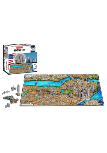 Image of 4D Cityscape Boston, USA Time Puzzle