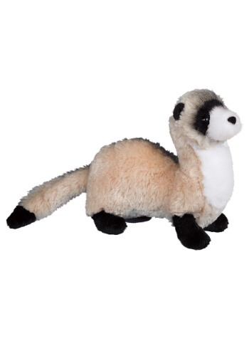"Vince the Black Footed Ferret Plush - 10"" long without tail"