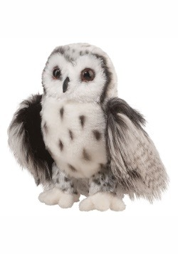 "Crescent Silver Owl Plush- 10"" Tall"