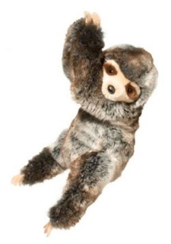 Plush Ivy the Hanging Sloth with Velcro Hands