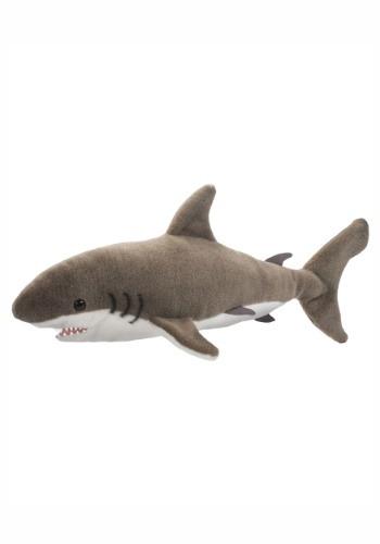 "Fin the Great White Shark Plush - 22"" long"