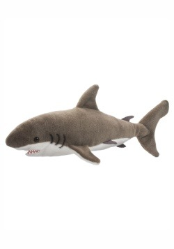 "Fin the Great White Shark Plush - 22"" long"