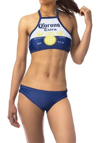 Women's Corona High-Neck Halter Top Bikini