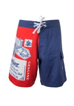 Men's Budweiser Swim Trunks1