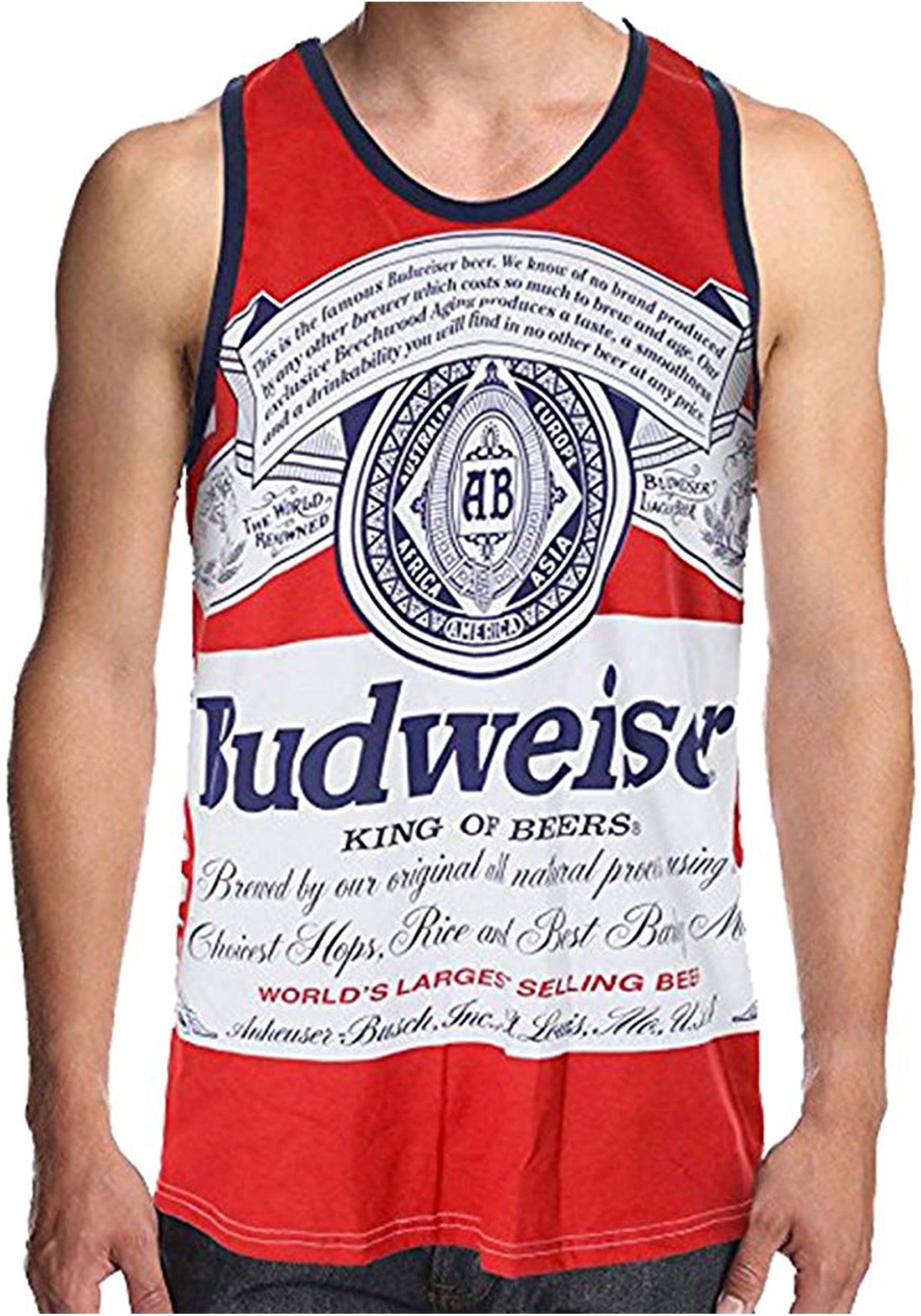 44b47e8271f0a Men's Budweiser King of Beers Faded Tank