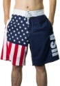 Men's USA Flag Fourth of July Swim Board Shorts1