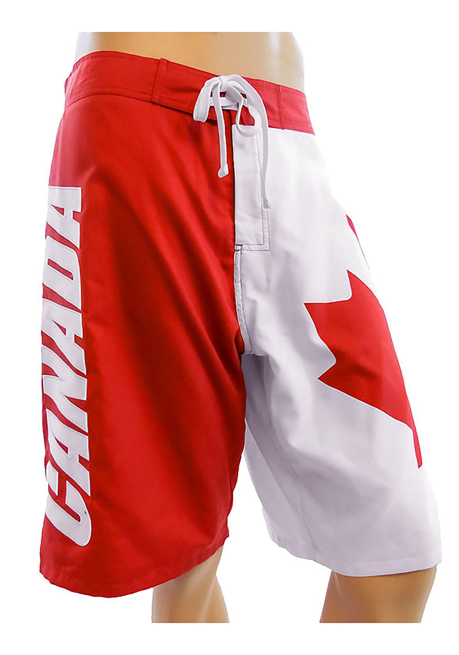 Men's Canadian Flag Swim Board Shorts