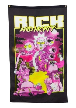 """30""""x 50"""" Rick and Morty Retro Banner"""
