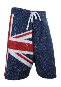 Mens UK Union Jack Flag Swim Board Shorts