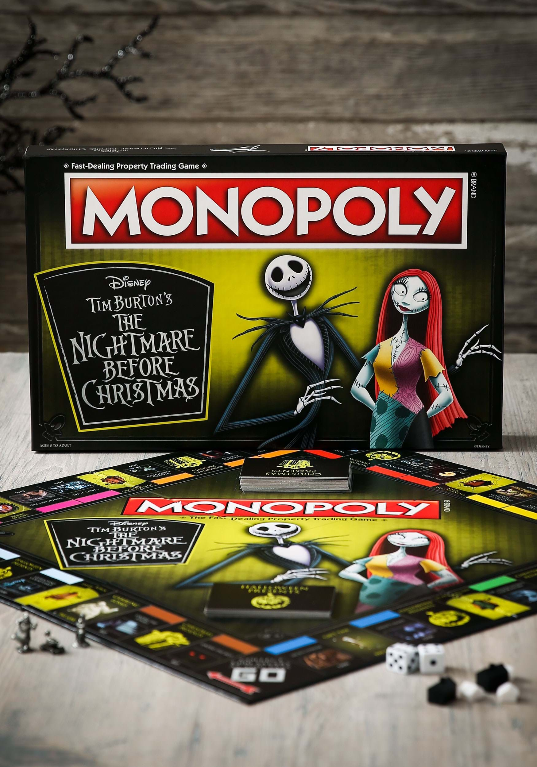 MONOPOLY The Nightmare Before Christmas Board Game