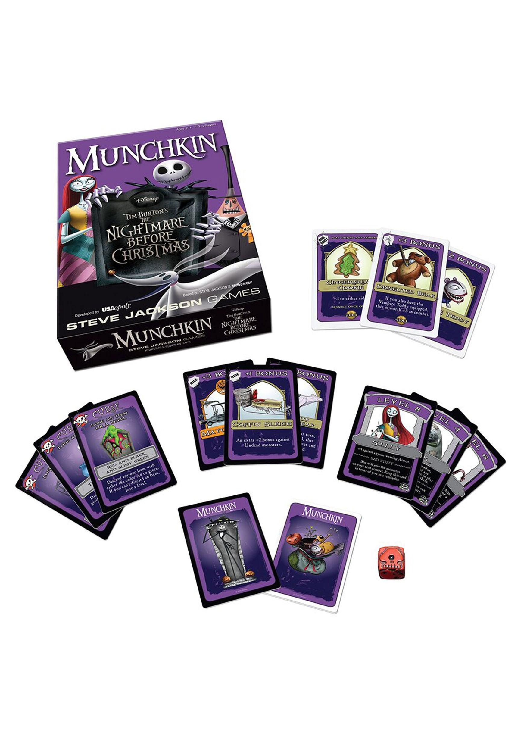 munchkin the nightmare before christmas card game 2 - The Nightmare Before Christmas Games