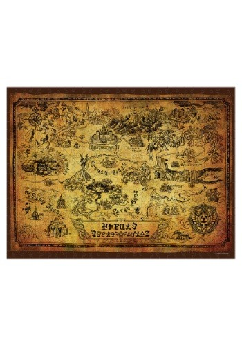 The Legend of Zelda Hyrule Map 550 Piece Puzzle