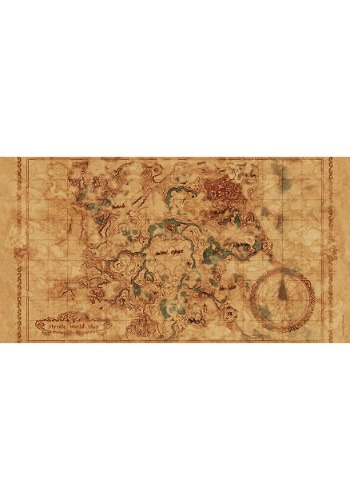 The Legend of Zelda Breath of the Wild Hyrule Map