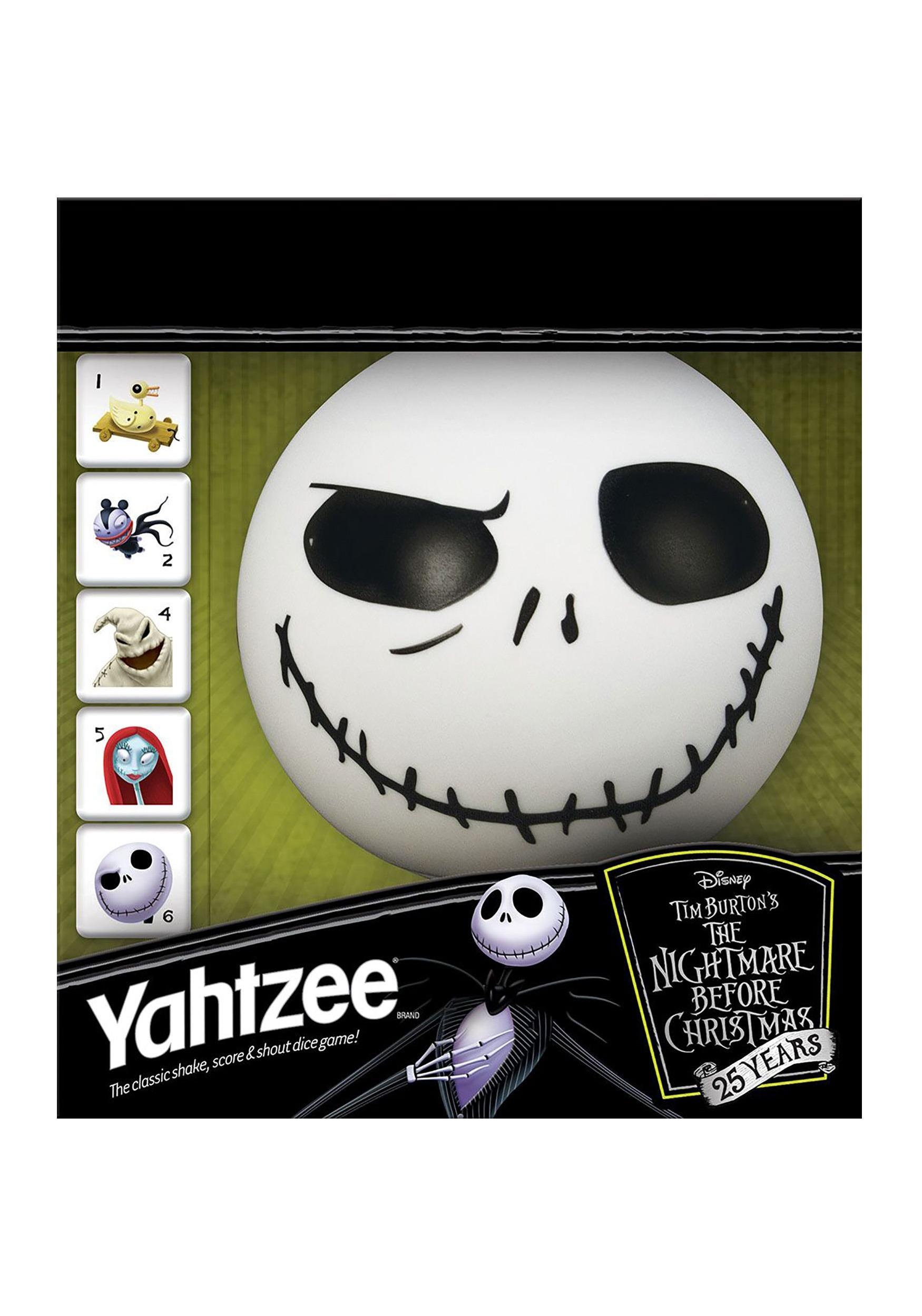 Yahtzee 25th Anniversary The Nightmare Before Christmas Game