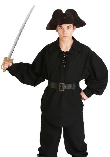 Men's Black Pirate Shirt Update Main