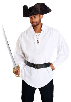 White Pirate Mens Shirt Main Update