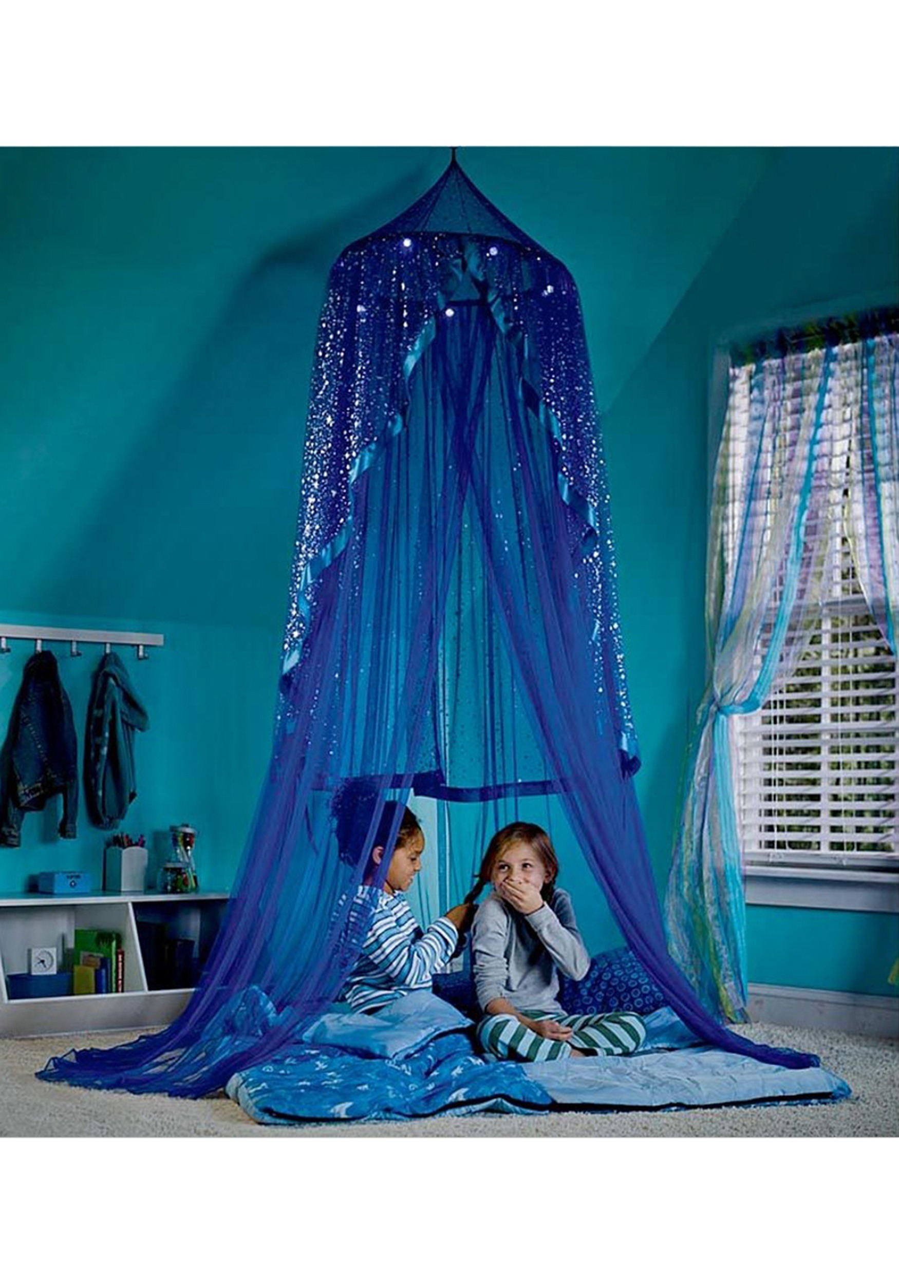 Blue Celestial Starry Night Hideaway Canopy