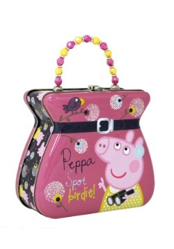 Peppa Pig Belt Buckle Tin Tote Purse