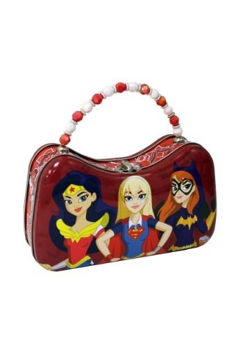 DC Super Hero Girls Tin Purse w/ Beaded Handle (TB657807-ST Tin Box) photo