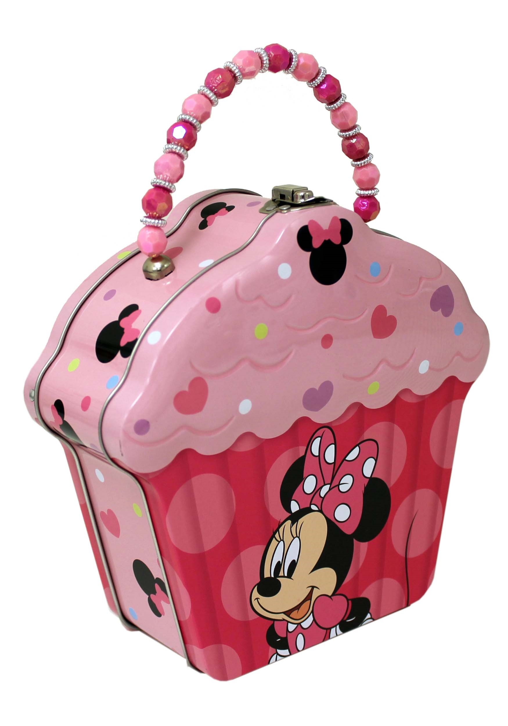 Minnie Mouse Embossed Cupcake Tin Purse w/ Beaded Handle (TB523607-ST TB523607) photo