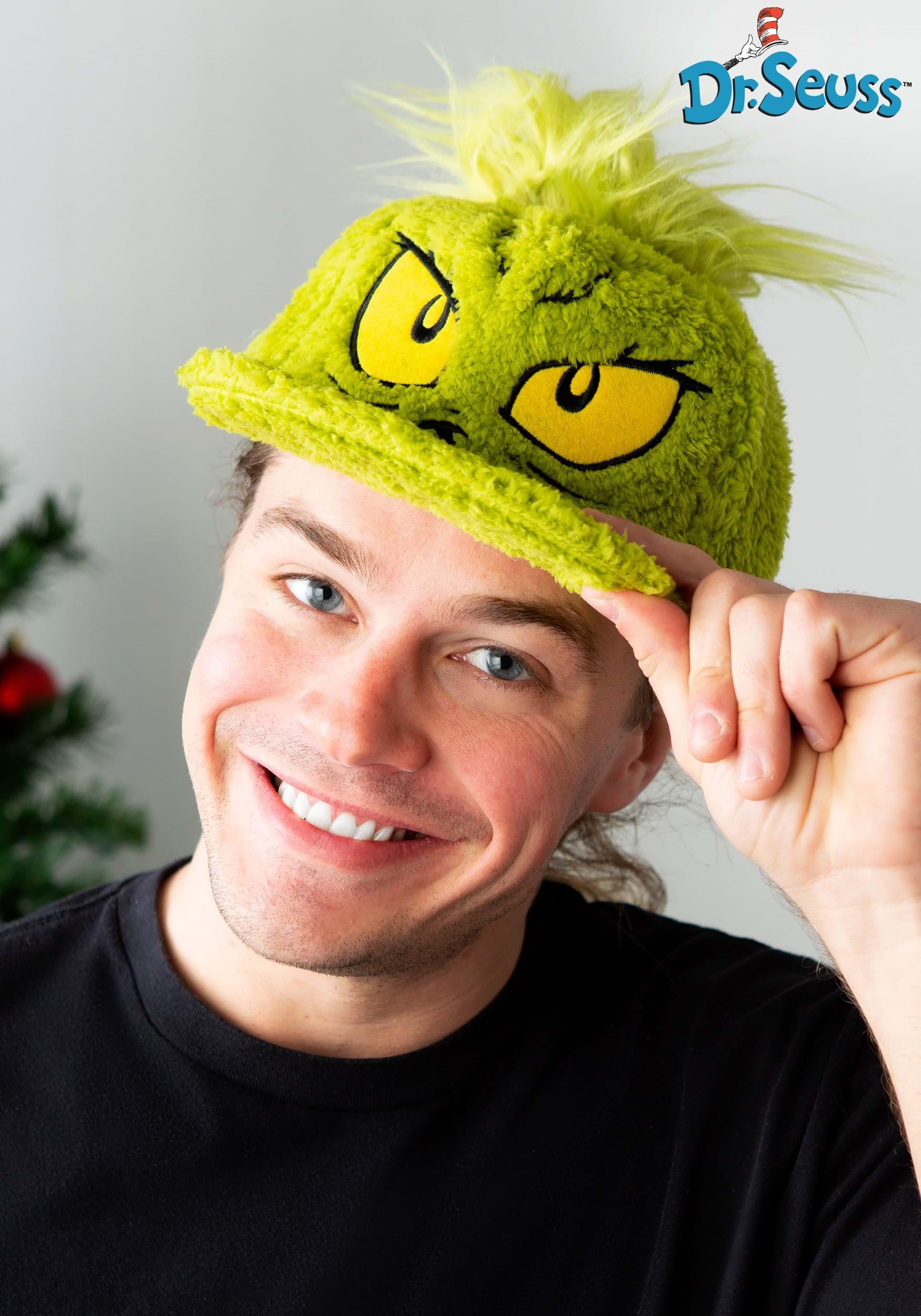 Dr. Seuss Grinch Fuzzy Hat bbfd0054f2c