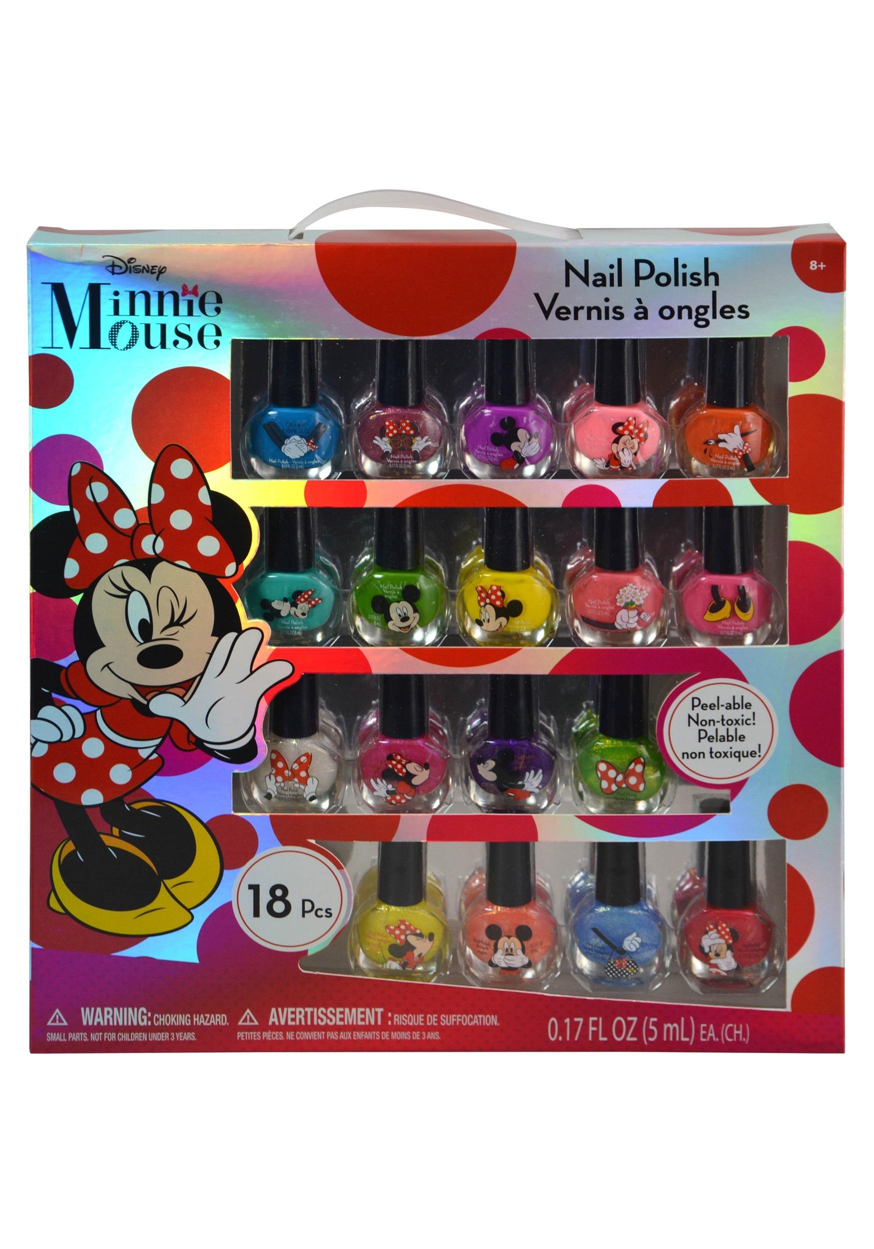 Disney Minnie Mouse 18 Piece Nail Polish Kit