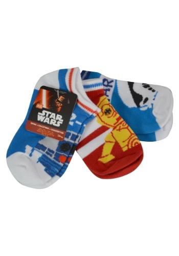 Star Wars 3 Pack Size 4 6 Ankle Socks for Kids
