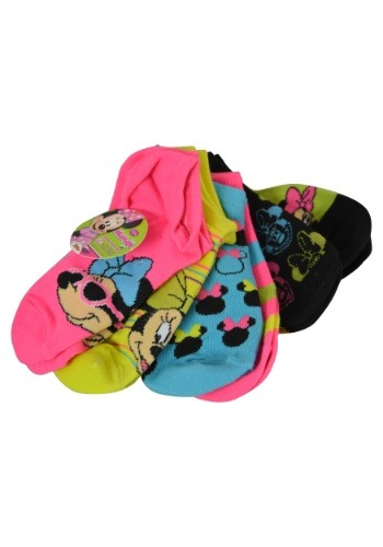 Minnie Mouse Size 6-8 Sock 6pk
