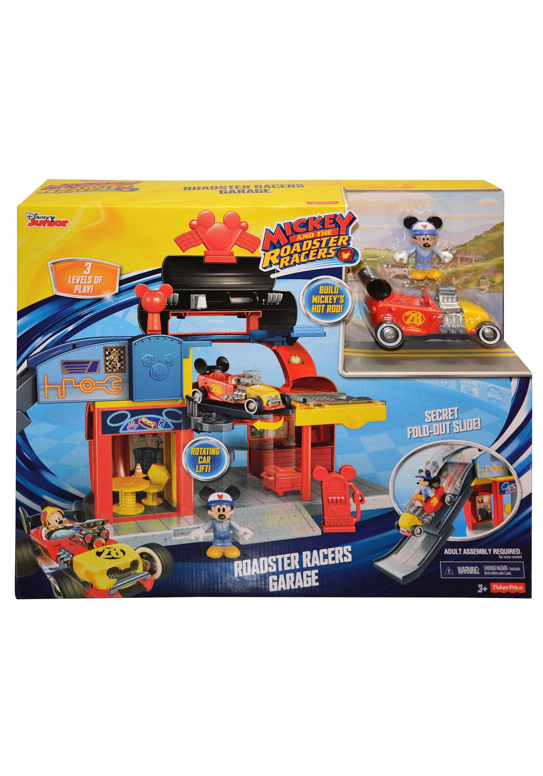 Disney Mickey Mouse Roadster Racers Garage Play Set UPDDTT859993