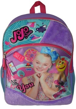 "JoJo Siwa 16"" Backpack with Fur"
