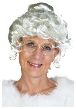 Deluxe Mrs. Claus Womens Wig cc1