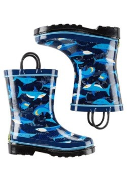 Pixel Shark Camo Child Rainboot