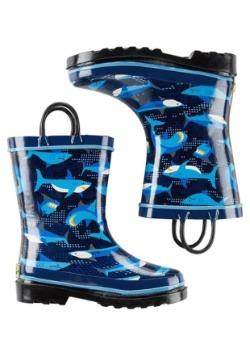 Pixel Shark Camo Child Rainboot