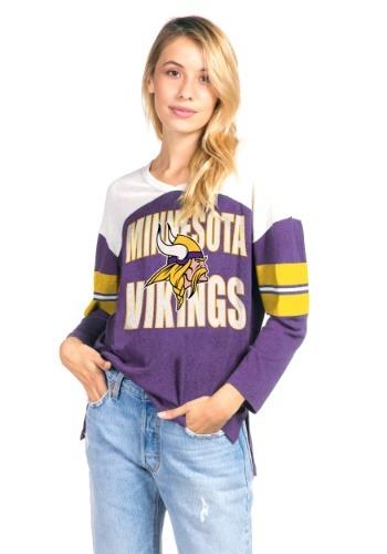Women's Purple Minnesota Vikings Throwback Football Tee
