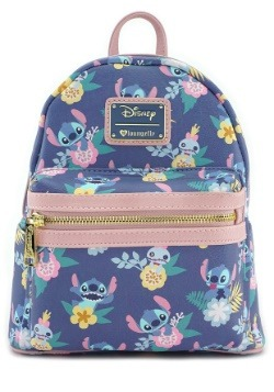 Loungefly Lilo All Over Print Faux Leather Mini Backpack
