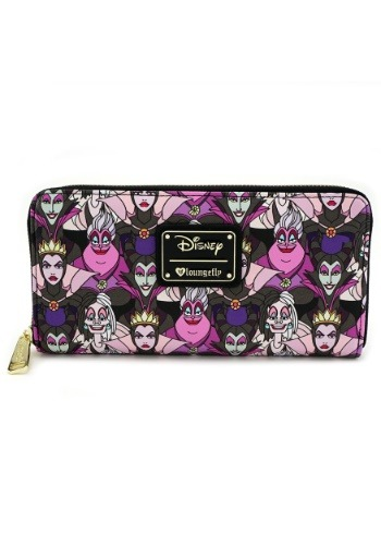 Loungefly Disney Villains Faux Leather Zip Around