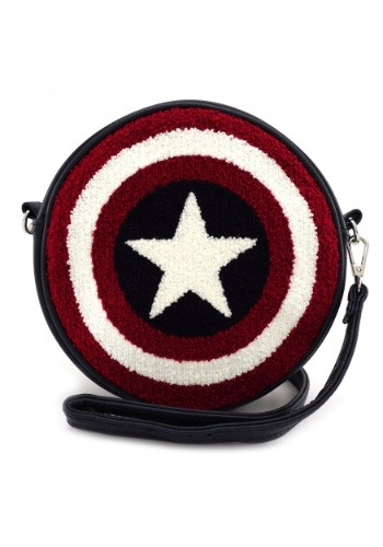 Loungefly Captain America Shield Faux Leather Crossbody Bag
