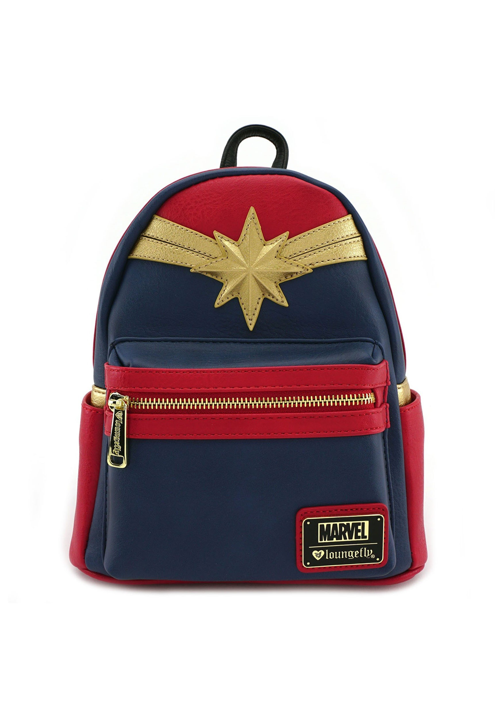 f4ca572e80f Loungefly Captain Marvel Faux Leather Mini Backpack