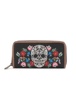 Loungefly Dia De Los Muertos Faux Leather Zip Around Wallet