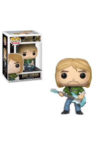 POP! Rocks: Kurt Cobain in Striped Shirt Vinyl Figure
