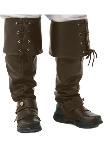 Deluxe Brown Boot Tops for Adults