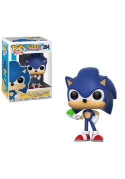 POP Games Sonic the Hedgehog Vinyl Figure w Emerald